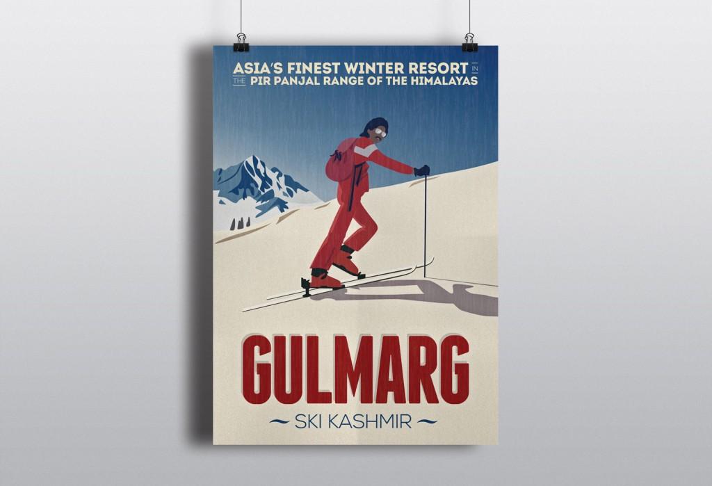 poster gulmarg India kashmir