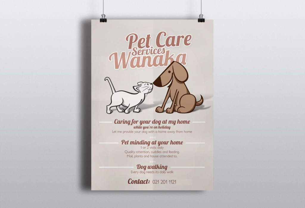 affiche illustration chien chat