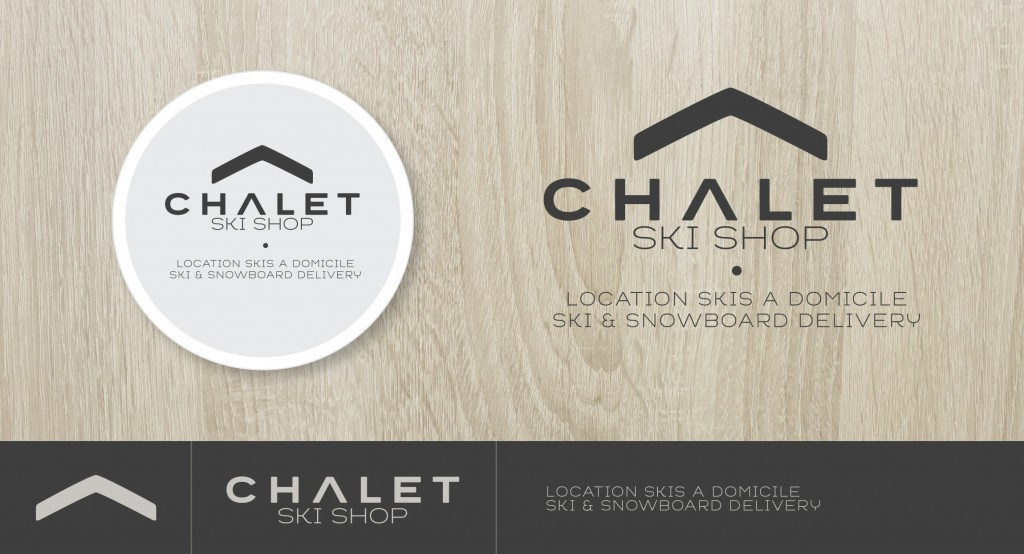 logo design chalet ski shop