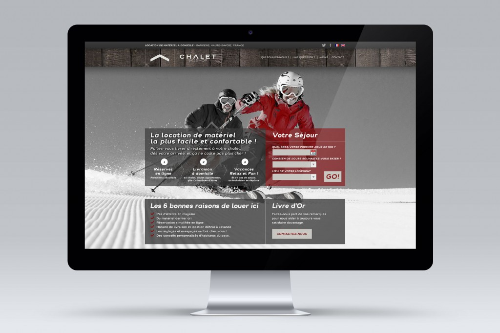 site web design chalet ski shop