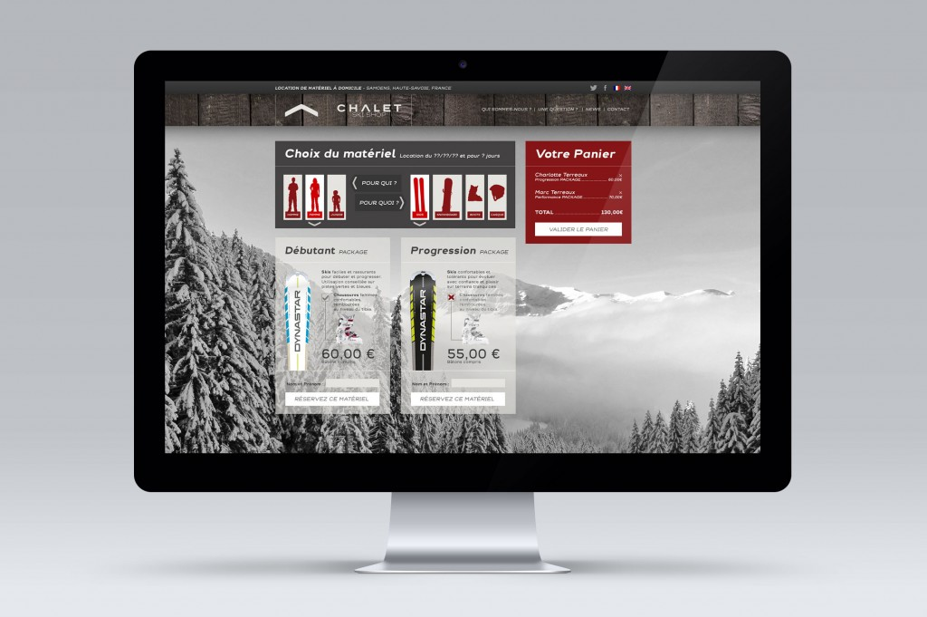 web design chalet ski shop