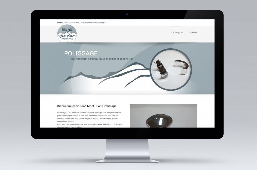 Design développement site web mont blanc polissage