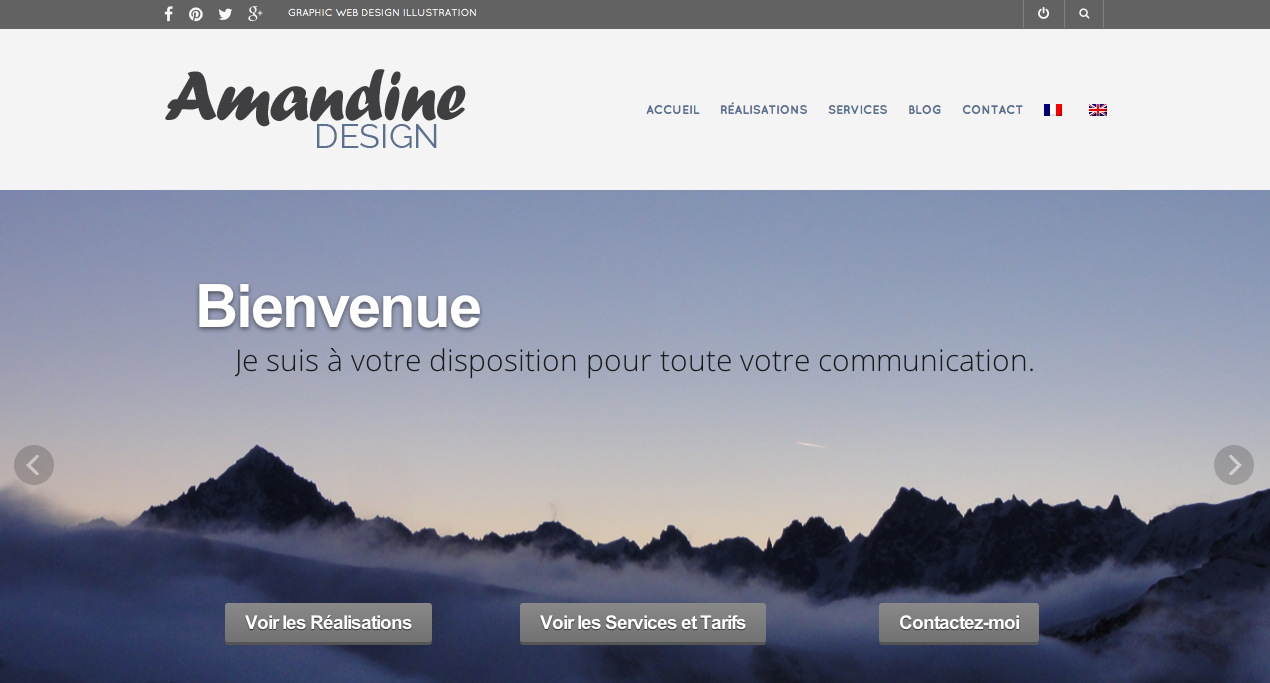 New website design Amandiks.fr