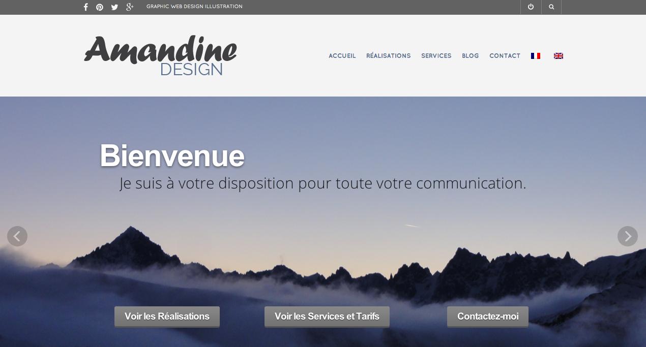New website design Amandiks.fr