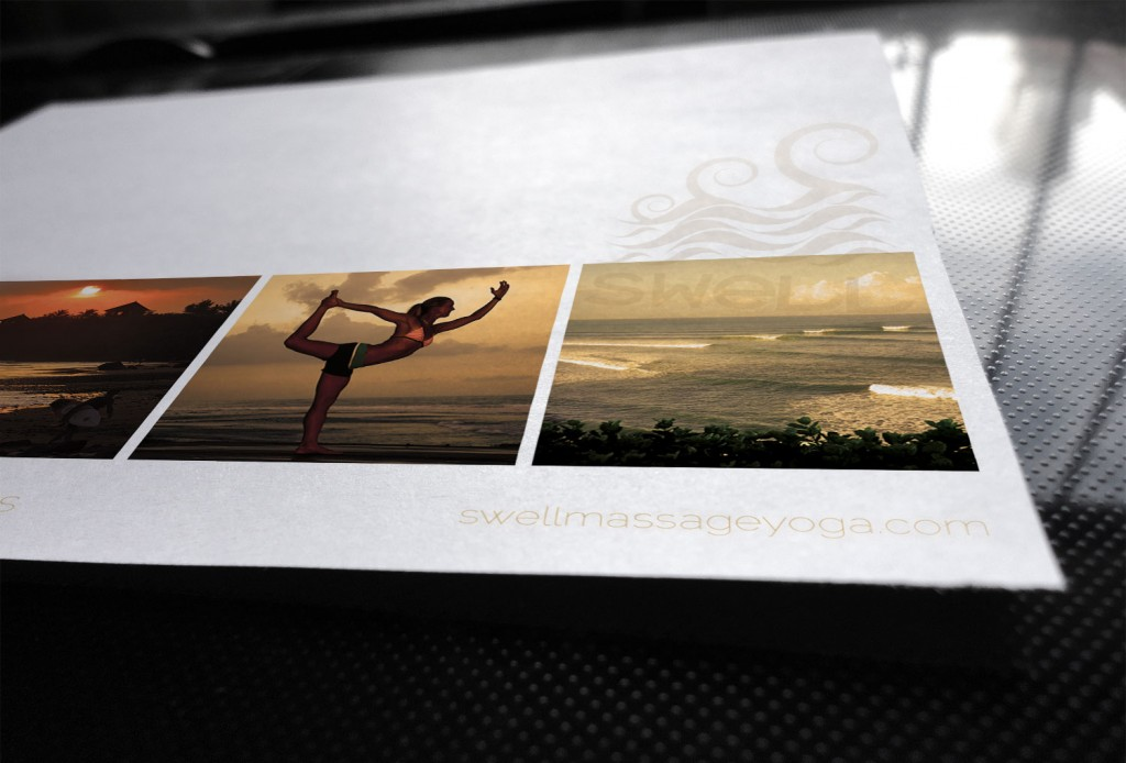 Mise en page carte postale bali